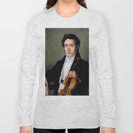 Portait of young Niccolò Paganini Long Sleeve T-shirt
