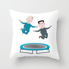 Trump and Kim Jong Un Throw Pillow