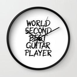 world second best guitarist Wall Clock