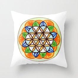 Celebrate Life Mandala Throw Pillow