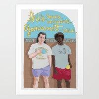 pulp fiction Art Prints featuring Pulp Fiction by Vannia Palacio