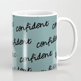 GOOD VIBES - CONFIDENT (blue) Coffee Mug