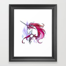 Pink Unicorn Framed Art Print