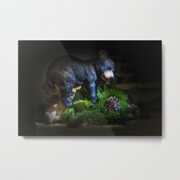 Napping bear Metal Print