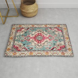 Heritage Farmhouse Style Traditional Oriental Moroccan Artwork Rug