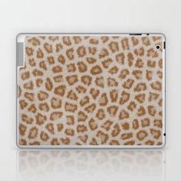 Hipster white brown cheetah animal print pattern Laptop & iPad Skin