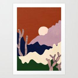 Intangible Land Art Print