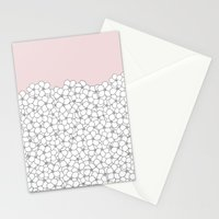 Forget Pink Boarder 2 Stationery Cards
