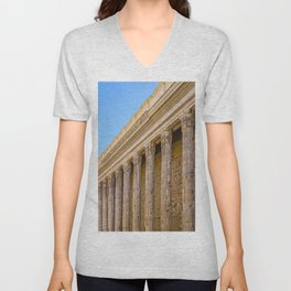 The Pantheon in Rome Italy Unisex V-Neck