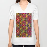 escher V-neck T-shirts featuring Escher Tile by RingWaveArt