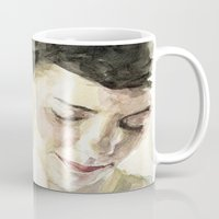 amelie Mugs featuring Amelie Poulain  by Stefan Harris
