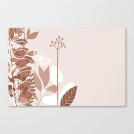 Botanicals and Butterfly Graphic Design 2 Sherwin Williams Canyon Clay Canvas Print