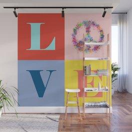 Peace & Love Wall Mural