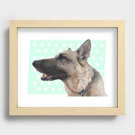 Lucy German shepherd Recessed Framed Print