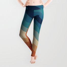 Retro 70s Stripe Colorful Rainbow II Leggings