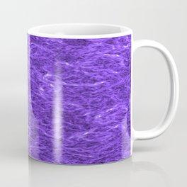 Horizontal metal texture of bright highlights on blue waves. Coffee Mug