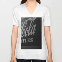 coca cola V-neck T-shirts featuring Coca-Cola by Colbie & Co.