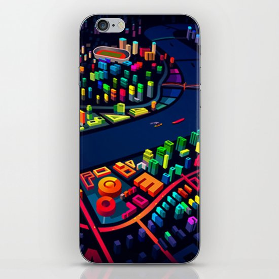 3D City iPhone & iPod Skin