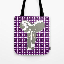 African Violet Safari Dot with Pop Art Elephant Tote Bag