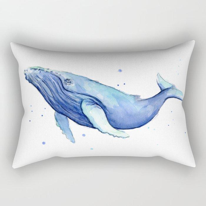Animal Nursery Pillows : Humpback Whale Watercolor Animal Painting Nursery Animals Rectangular Pillow by olechka Society6