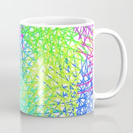 Grid Line Colour Explotion Coffee Mug