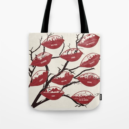 City Leaf Tree 2 Tote Bag