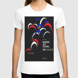1958 Newport Jazz Festival Vintage Advertisement Poster Newport, Rhode Island T-shirt