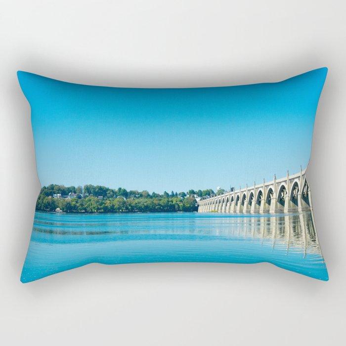 Blue Susquehanna River Rectangular Pillow