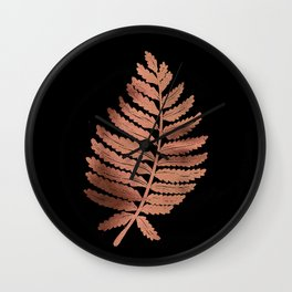 Fern Leaf – Rose Gold Palette Wall Clock
