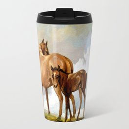 Thoroughbred Mare and Foal Travel Mug