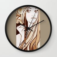 mucha Wall Clocks featuring My Mucha by Little Bunny Sunshine