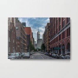 City street, downtown, Manhattan, New York (2020-6-GNY179) Metal Print