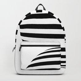 Blender Horizontal Striped Sphere 2 Color Backpack