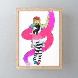 Floaty Artist Framed Mini Art Print