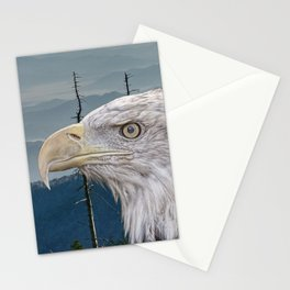 Bald Eagle in the Mountains Stationery Cards