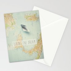 Map - living the dream Stationery Cards