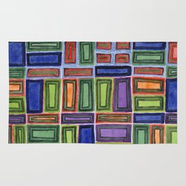 Melodic Rectangles Pattern Rug