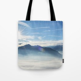 Panoramic view over the Adige Valley near Merano Tote Bag