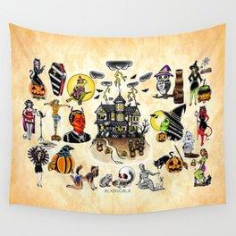 Halloween Flash Wall Tapestry
