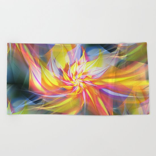 Fractal Flower Beach Towel