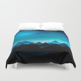 Night Storm In The Mountains Duvet Cover
