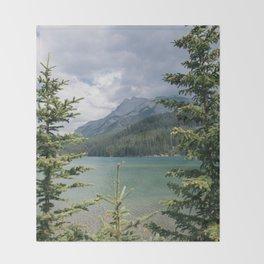 Lake Minnewanka Throw Blanket