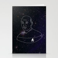 picard Stationery Cards featuring Captain Jean-Luc Picard by lunsh