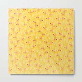 The Yellow Baby Chicks Club Metal Print