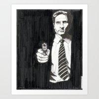 The Man, The Myth, The Monotone Art Print