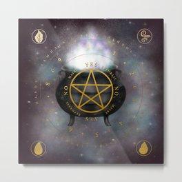 Witches Cauldron Pendulum Metal Print