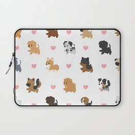 Dog Breeds with Hearts Laptop Sleeve