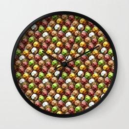 Metallic Beads Pattern Wall Clock