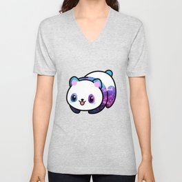 Kawaii Galactic Mighty Panda Unisex V-Neck