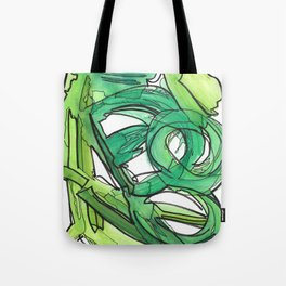 Nature's Lever Modern Watercolor Painting Tote Bag